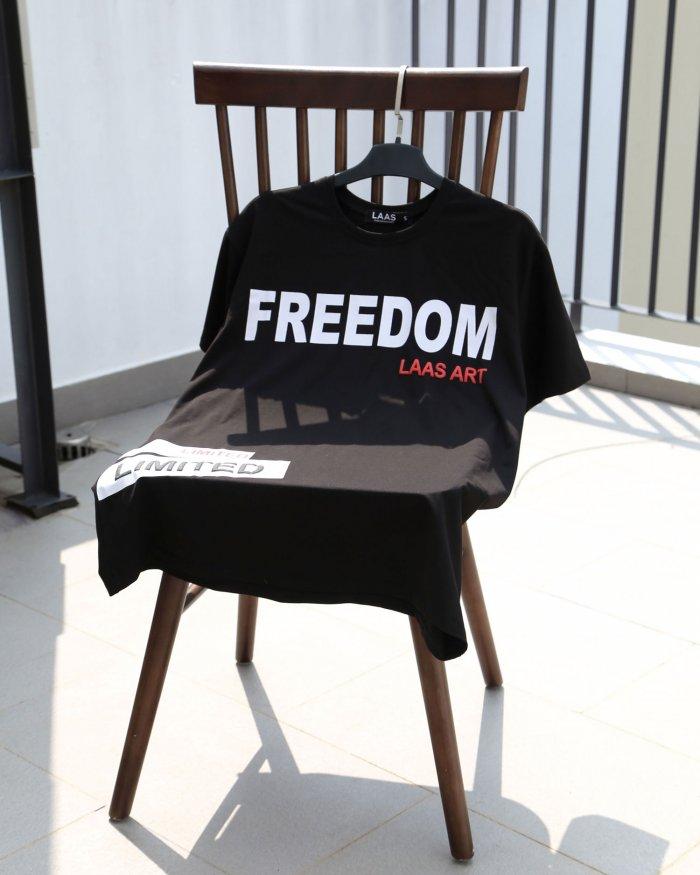 ÁO THUN FREEDOM ĐEN
